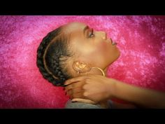 Jumbo Cornrows | Protective Hairstyle Natural Hair - YouTube