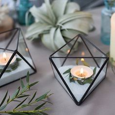 geometric wedding candle holders #weddingcandlestick