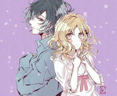 Diabolik Lovers (More Blood)- Yui x Azusa Azusa Diabolik Lovers, Azusa Mukami, Cute Potato, Tokyo Mew Mew, Ayato, Yui, Anime Films, Yandere, Anime Couples