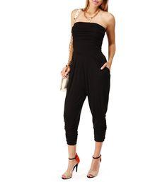 Black Harem Pants Jumpsuit