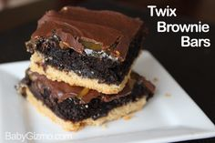 Twix Brownies - SO GOOD!!