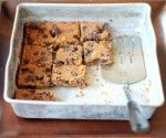 Flourless Chocolate Chip Chickpea Blondies with Sea Salt -