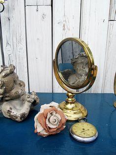 Vintage Spiegel - hübscher kleiner Rasierspiegel - ein Designerstück von Gerne_wieder bei DaWanda #brocante #mirror #vintage