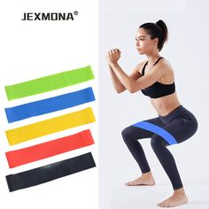 4pcs Fitness Equipment Stretch Resistance Bands Crossfit Yoga Rubber Loop Sport Training Equipment Hammock For Yoga With Bag Diversified In Packaging Sports & Entertainment