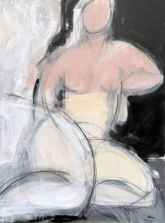 Woman Seated in Pink Painting by Heidi Lanino | United States Online Art, Artwork Online, Original Paintings, Original Art, Pink Painting, The Other Art Fair, Box Art, Contemporary Artists, Saatchi Art