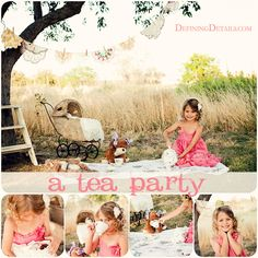 Tea party photo shoot..LOVE ♡ Photo Session Ideas | Props | Prop | Child Photography | Clothing Inspiration| Fashion | Pose Idea | Poses | Sisters | Litte Girl