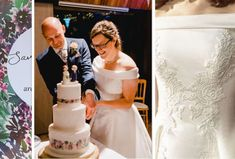 Inspiration for your wedding cake can come from anywhere and everywhere Painted Wedding Cake, Wedding Cakes, Hand Painted, Wedding Dresses, Lace, Inspiration, Bridal Dresses, Biblical Inspiration, Bridal Gowns