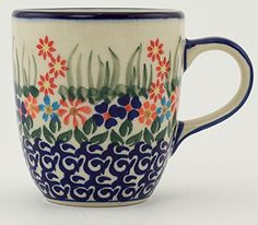 >>> Trust me, this is great! Click the image.: Polish Pottery 11 Oz Blissful Daisy Mug From Boleslawiec at Coffee World Coffe.