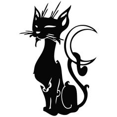 Cat Black Moon - Animal Decal Vinyl Car Wall Laptop Cellphone Sticker >>> Trust me, this is great! Click the image. : Wall Stickers and Murals for Home Decor