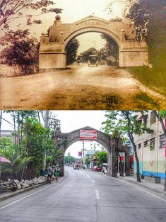 Dito, Noon: Arkong Bato, Valenzuela, 1910 x — The stone arc was built by the Americans in It marked the old boundary between the provinces of Rizal and Bulacan. Filipino House, Retro Pictures, Manila Philippines, Old Street, Balcony Design, The Province, Present Day, Entrance, Architecture Design