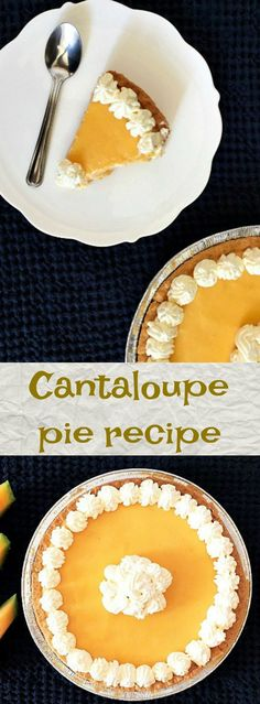 This cantaloupe pie recipe is a refreshing dessert, perfect for a warm, sunny day. It's such a unique combination, on one hand, you have a light cream . Bitter Melon Recipes, Cantaloupe Recipes, Watermelon Recipes, Tart Recipes, Healthy Dessert Recipes, Delicious Desserts, Yummy Food, Mulberry Recipes, Sweets