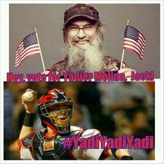 Hey, Uncle Si wants you to vote in Yadier Molina as the NL's starting catcher, jack! #YadiYadiYadi #STLcards #yadiermolina