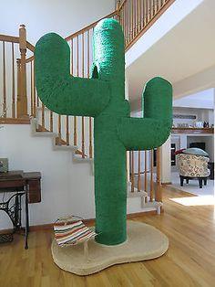 Cat Tree Custom Made Cactus Kitsch, Diy Cat Tent, Cactus Cat, Cat Playground, Cat Tunnel, Cat Scratcher, Cat Condo, Cat Supplies, Cat Furniture