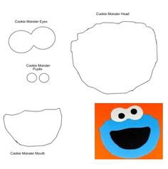 Cookie Monster - face template
