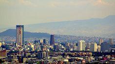 Mexico City Skyline from La Cuspide