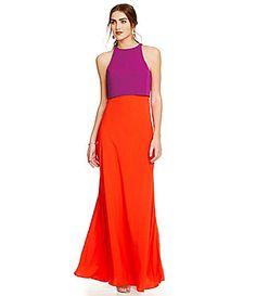 Jill Jill Stuart  OpenBack Popover Aline Gown #Dillards