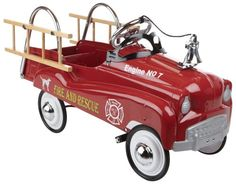 InStep Fire Truck Pedal Car. For kids of all ages from toy collectors to boys and girls who want to drive like mom and dad. Great nostalgic pedal cars to stimulate their wild imaginations and provide hours of fun. More at http://suliaszone.com/instep-fire-truck-pedal-car/