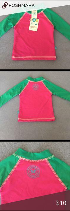 Honest Swim Shirt UPF 50 Brand new with tags The Honest Company swim shirt/rash guard. Perfect for the summer time! UPF 50. Size M fits 6-12. The Honest Company Swim Rashguards