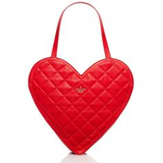 Kate Spade Secret Admirer Quilted Heart Tote ($243) ❤ liked on Polyvore featuring bags, handbags, tote bags, red, hearts, purses, red leather purse, red leather handbag, leather handbag tote and leather handbags
