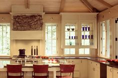 Annapolis MD arts and crafts kitchen custom homes modern interior design lofted ceiling ship lap ceiling exposed beams tree house custom woodwork DC architecture firm Donald Lococo
