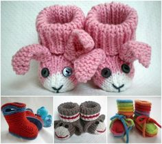 Kniited Baby Bootie Collection