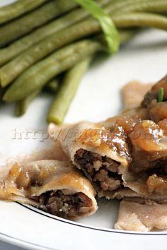 © PIGUT - Préparation de raviolis en sauce et haricots verts