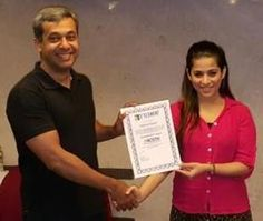 Congratulations Sapna Rayani - On being awarded the Prestigious ICF NLP Coach Certificate + NLP Practitioner certificate  NLP Training from Anil Dagia - India's Most Innovative NLP Trainer  Attend the next World's 1st ICF + NLP Dual Certification Life Coach Training in Pune (India) - 4 Apr :- http://www.anildagia.com/events