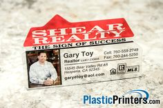 """Our 7900 Plastic Card is a 3.375"""" x 2.1"""" House Shaped Card. It is available in full color with no printing on the back 4/0, or printing or barcoding on the back 4/4. - See more at: http://www.plasticprinters.com/die-cut-cards/Custom_Plastic_Card.aspx?ID=166#sthash.cIgBfr5D.dpuf"""