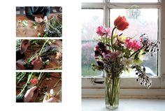 camaïeu de roses vifs