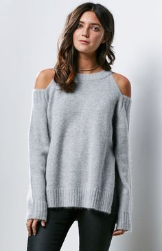 cold shoulder sweater | pinned by KimbaLikes.com
