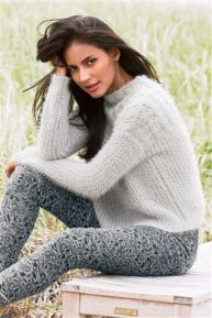 Fluffy Cable Sweater
