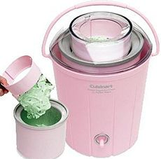 Cuisinart Pink Frozen Yogurt/Ice Cream & Sorbet Maker