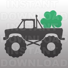 St Patricks Monster Truck SVG FileSt Patricks Day SVGCutting Template-Vector Clip Art-Commercial & Personal Use-CricutCameoSilhouette Truck Crafts, Little Blue Trucks, St Patrick Day Shirts, Monogram Fonts, Monograms, Silhouette Studio Designer Edition, Silhouette Cameo Projects, Diy Invitations, Vinyl Projects