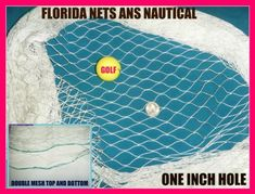 12 X 25 Fish Net for Golf, Backstop, Softball, Sports, La Crosse, by Florida Nets. $32.99. HEAVY 12 x 25 foot of (NEW) netting.   (LAYING FLAT (RELAXED) AS IN PICTURE NET WILL BE   (10 X 23 FOOT.)   2 INCH STRETCH MESH!  THAT'S ONE INCH HOLES OF COMMERCIAL FISH NETTING.  A golf ball will not go through it. THIS NET WILL STOP YOUR GOLF BALL OR Baseball!  NUMBER 7 TWINE NYLON.  TO GET 12X 25 when done hanging YOU MUST FOLLOW INSTRUCTIONS!  NET IS NOT CUT WRONG!  IF YOU PUL...