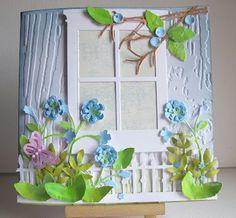 Cute use of wood emboss folder.
