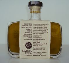 back. Moria Elea olive oil