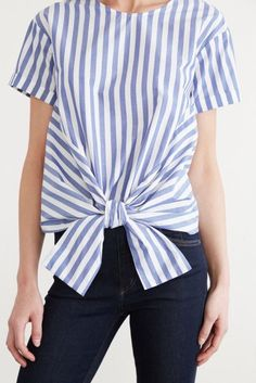 Best Green and Sustainable Fashion and Jewelry Lines - Amour Vert striped shirt