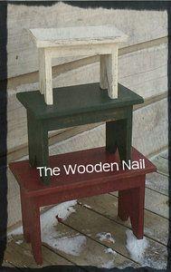 Primitive Bench Stacking Stool Pattern Plan WN111 | eBay