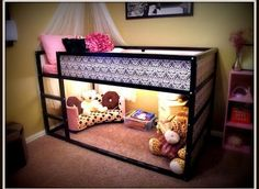 Amazing and adorable solutions for kids bunk beds! Love the last one in the article! … jw Amazing and adorable solutions for kids bunk beds! My New Room, My Room, Kids Bunk Beds, Low Loft Beds For Kids, Lofted Beds, Bunk Beds For Girls Room, Small Loft, Awesome Bedrooms, Little Girl Rooms