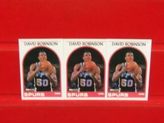 lot of 3 david robinson 1989-1990 hoops rookie cards # 310 from $0.99