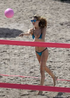 Pin for Later: Victoria's Secret Models Play a Sexy Game of Beach Volleyball, Refereed by Nick Jonas