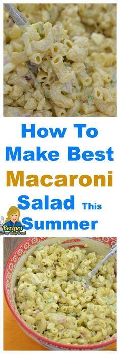 How To Make Best Macaroni Salad For Summer #Macaroni Salad #Salads