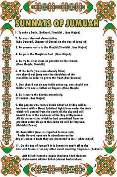 performe these 11 sunnats of #jumma