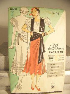 1930s Adult Halloween Costume Pattern Gypsy