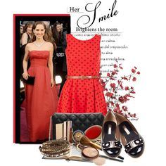 Natalie Night and Day, created by polybaby.polyvore.com #natalie #nightday #red #dress #lebunnybleu