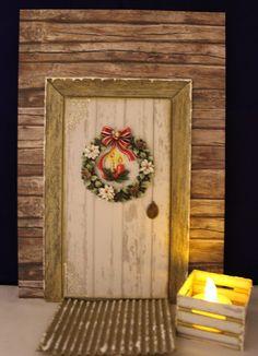 Intohimona askartelu: Tontulle ovi Christmas Holidays, Christmas Crafts, Merry Christmas, Xmas, Ovet, Elf Door, Fairy Doors, Holidays And Events, Gnomes