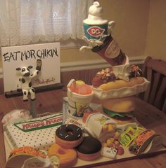Touch of the South fast food themed cake