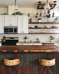 If you are looking for Bohemian Style Kitchen Decor Ideas, You come to the right place. Below are the Bohemian Style Kitchen Decor Ideas. This post ab. Eclectic Kitchen, Boho Kitchen, Shabby Chic Kitchen, Home Decor Kitchen, Kitchen Interior, New Kitchen, Home Kitchens, Kitchen Decorations, Kitchen Ideas