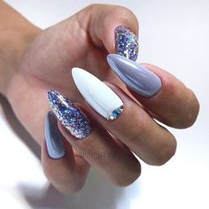 purple and white Acrylic short oval nails design for summer nails, Cute natural . purple and white Acrylic short oval nails design for summer nails, Cute natural oval nails for spring nails, Gel oval nails design acrylic Best Acrylic Nails, Acrylic Nail Designs, Accent Nail Designs, Winter Nails, Spring Nails, Short Oval Nails, Super Nails, Beautiful Nail Designs, Trendy Nails
