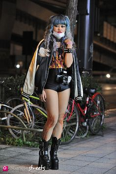 FASHION JAPAN: Narumi Meguro (Setagaya,Tokyo,Valentine,UNIF,American Apparel,AVANTGARDE,DEMONIA)